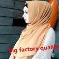 Costura aseada Annda marca al por mayor 40 colores de la mujer burbuja gasa bufanda chales hijab musulmán capsula cubrirse la cabeza