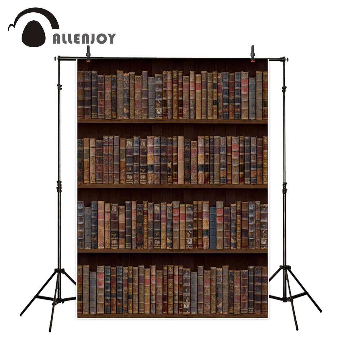 Allenjoy photography backdrops Vintage bookshelf retro background for a photo shoot party decorations photo studio backdrop