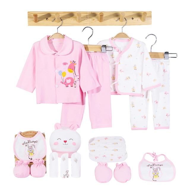 Cartoon Cotton Newborn Clothes Set Unisex Soft Autumn Spring Baby Clothes Set Gift Infant Clothing for 0-6 Months