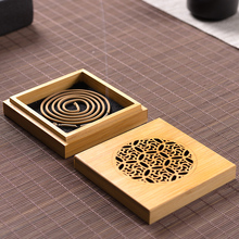 Creative Meditation Patterned Natural Bamboo Incense Burner