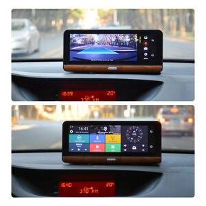 """Image 4 - Junsun E31P Pro Auto DVR Kamera 4G ADAS 7.80 """"Android OS GPS Navigator Registrar Video Dash Cam Recorder mit zwei kameras morror"""