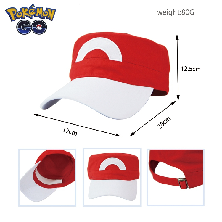 2016 Game Pokemon Go Hat Pocket Monster Pokeball Ash Ketchum Cosplay Tranier Adjustable Strapback Baseball Cap Gift Accessories
