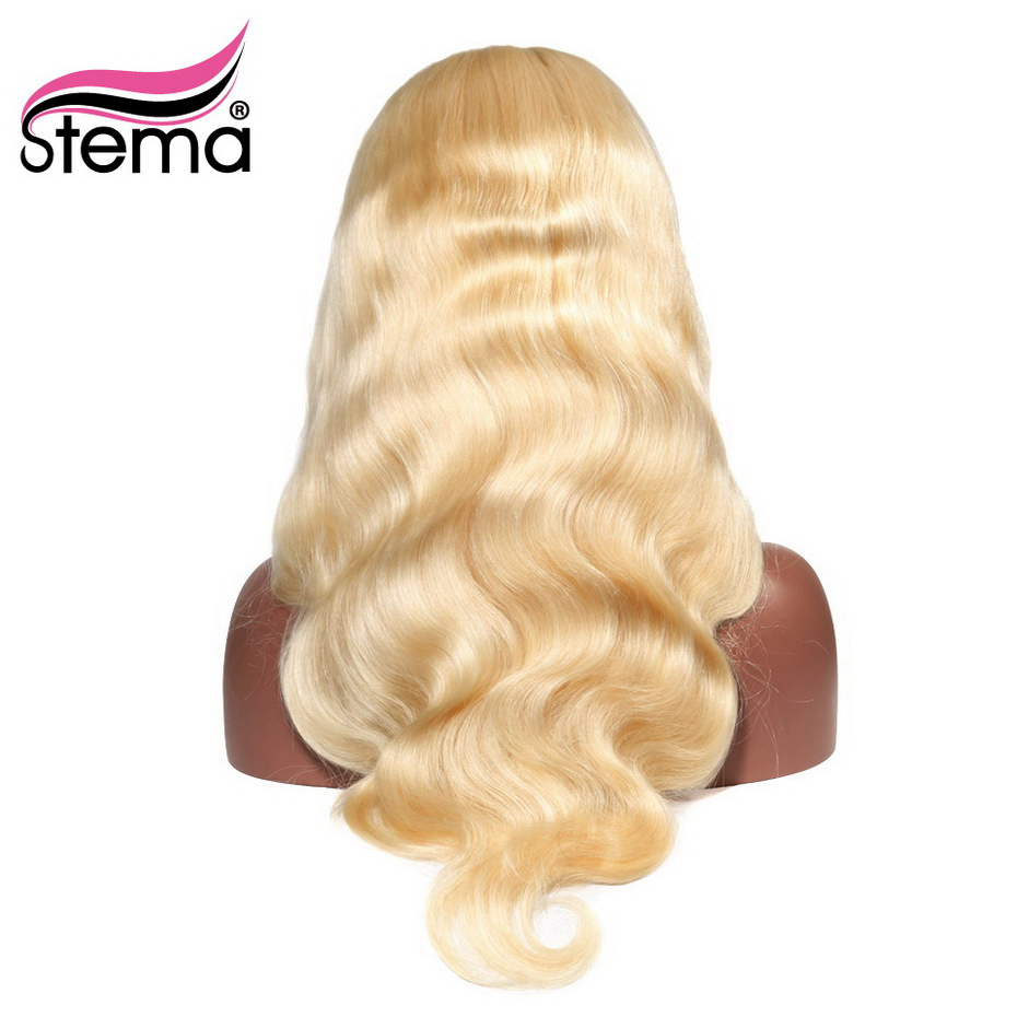 Stema 613 Blonde Body Wave 360 Lace Frontal Wig 8 30inch Pre Plucked Nature Color Remy