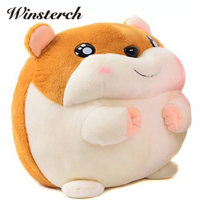 Gordura Brinquedos Hamster Hamtaro Hamutaro Pembroke Travesseiro Plush  Stuffed Animal de Pelúcia Beanie Boo De Pelúcia 4a9ca0e279a