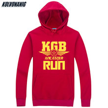 USSR SOVIET UNION KGB Print Hoodies Moscow Cold War Hoody Sweatshirts Men Cccp Russian Mens Sportswear Thick Hooded Pullovers