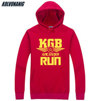 USSR SOVIET UNION KGB Print Hoodies Moscow Cold War Hoody Sweatshirts Men Cccp Russian Men's Sportswear Thick Hooded Pullovers