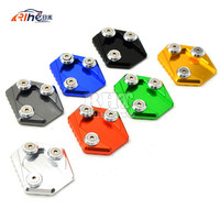7 Colors Motorcycle Stand Motorbike Kickstand Aluminum Side Stand Plate Enlarge Caballete Motocicleta For Honda MSX125