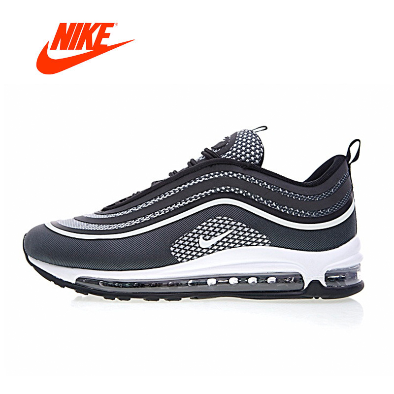 Original New Arrival Authentic Nike Max 97 UL '17 Black/Pure/White Men's Running Shoes Sport Outdoor Sneakers Gym Low 918356 001