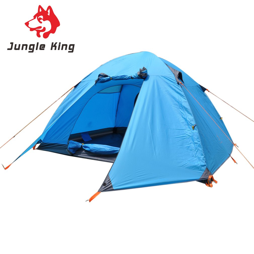 Outdoors Double Layer Camping Tent 6 Person Aluminum Rod For Outdoor Hiking Fishing climb Picnic Beach Tent Rainproof Waterproof 2 persons camping tent double layer outdoor waterproof tent for beach garden backyard picnic