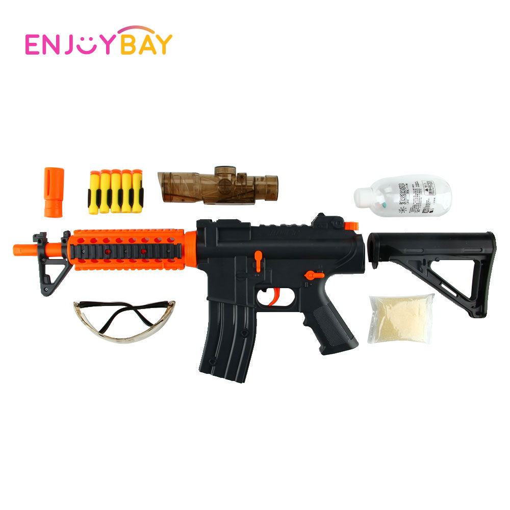 Enjoybay Soft Bullet Gun Toy Crystal Water Ball Bursts Plastic Gun CS Shooting Game Pistol Family Outdoor Game Toy for Children цена 2017