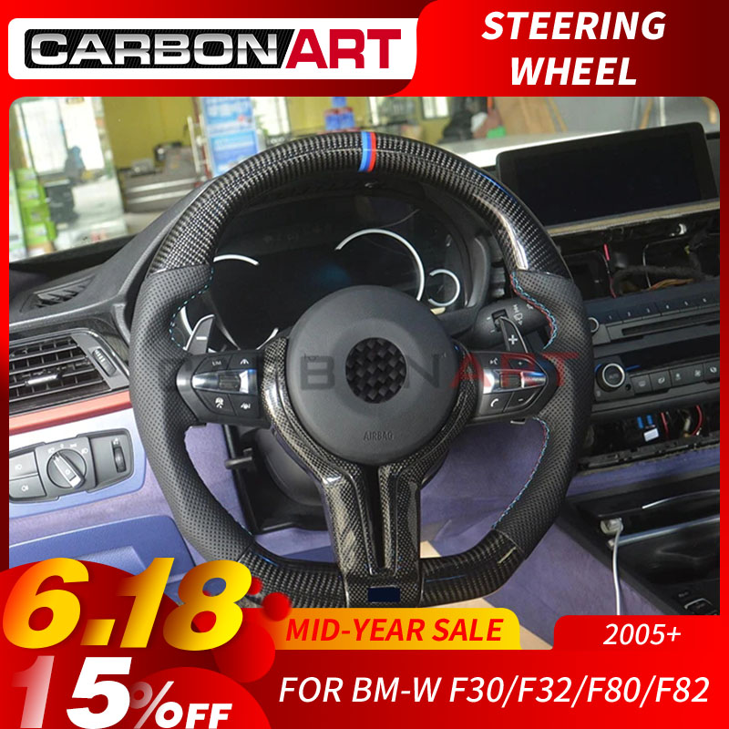 M4 volant pour BMW M Série F10 F30 F32 M4 F80 F82 F10 M5 F06 F12 Remplacement Volant En Fiber De Carbone 3 4 5 6 série