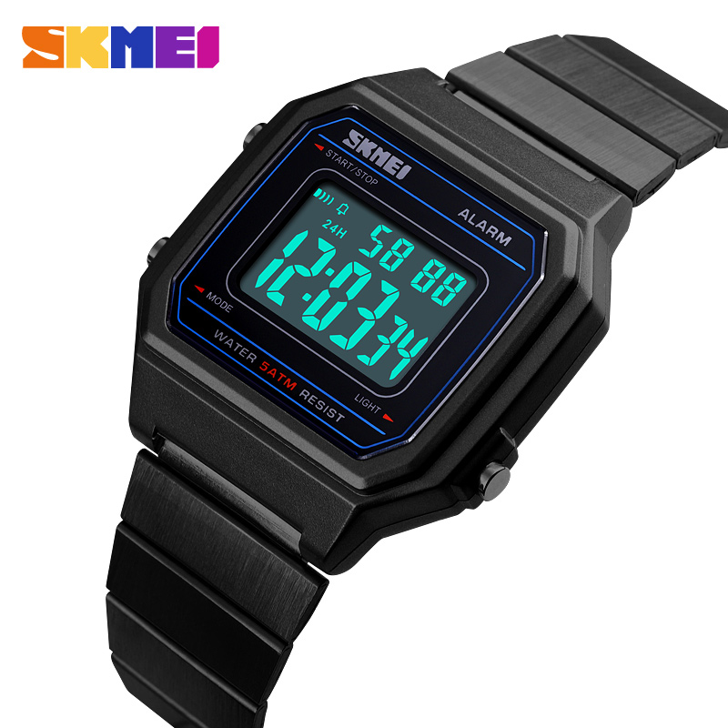 3831c73720c Homens Relógio Digital de SKMEI Moda Casual relógios de Pulso À Prova D   Água Homens