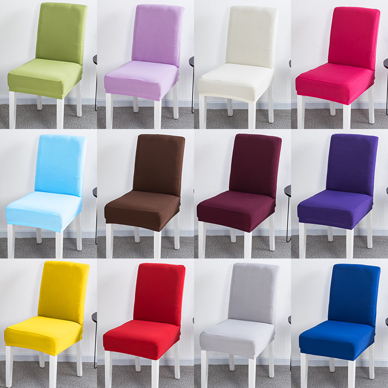18 Color Solid Colors Flexible Stretch Spandex Chair Cover For Restaurant Weddings Banquet Hotel Elastic Chair Cover