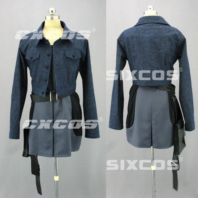 parasite eve 2 aya brea cosplay costume halloween party dress skirt suit uniform full set custom