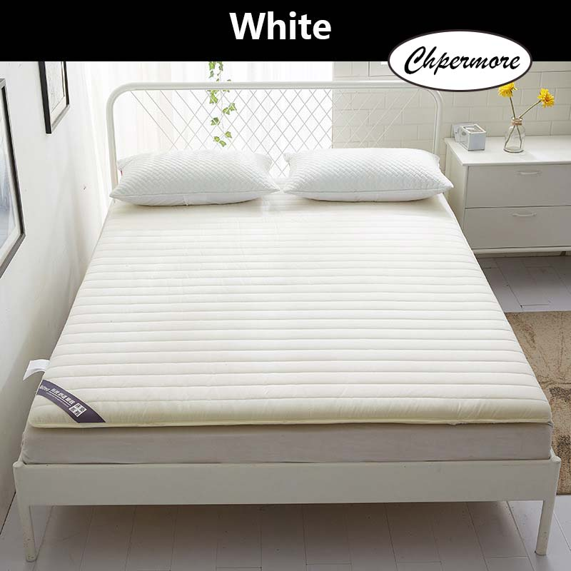 Image 5 - Chpermore Solid color Thicken Mattress Keep warm Tatami Foldable Mattresses Bedspreads King Queen Twin SizeMattresses   - AliExpress