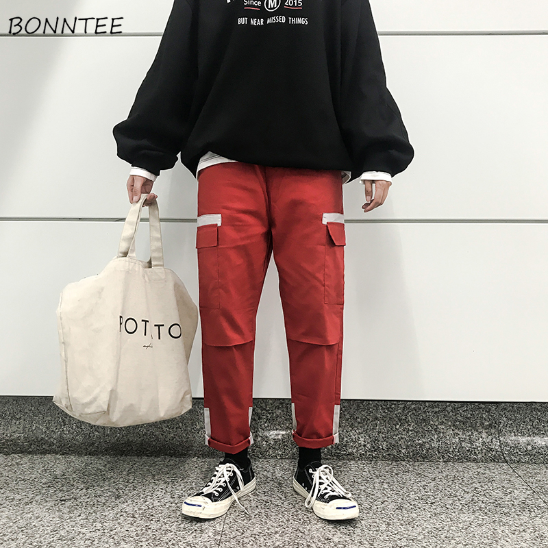 Pants Men Cargo Pant Full Length All-match Comfortable Mens Harajuku High Quality Males Korean Style Trousers Hip Hop Pockets(China)
