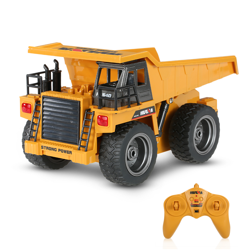 все цены на educational TOYS 1:12 Engineering Vehicle toy 1540 2.4G 6CH 40HMZ RC Metal Dump Truck Remote Control Toys RTR rc truck Toy gifts