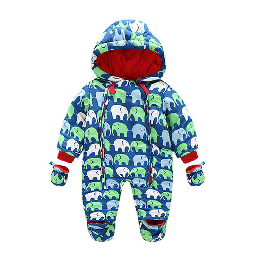 New Baby Rompers Winter Thick Warm Baby boy Clothing Long Sleeve Hooded Jumpsuit Infant Baby Girls Clothes Kids Newborn Outwear 2017 new baby rompers winter thick warm baby girl boy clothing long sleeve hooded jumpsuit kids newborn outwear for 1 3t
