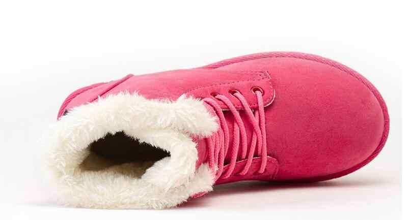 Sıcak Kadın Botları Kış sıcak Kar Botları Botas Mujer Lace Up Kürk yarım çizmeler Bayanlar Kış Kadın Ayakkabı Siyah F446