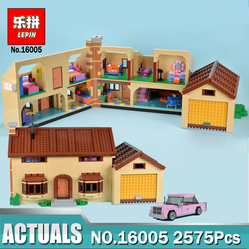 2575Pcs Lepin 16005 Simpsons House Model Building Block Bricks Compatible Legoinglys 71006 as Boys gift цена