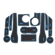 14 Pcs/Set Car Anti-slip Mat Gate Slot Door Pad Carpets Interior Mat For KIA Rio 2011-2014 Door Groove Mat Car Covers Cushion