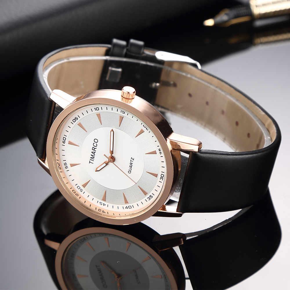 Женские часы Модные Роскошные Простой розовое золото циферблат часы женский, черный PU Кожаные модельные туфли леди часы Повседневное Кварцевые relogio feminino