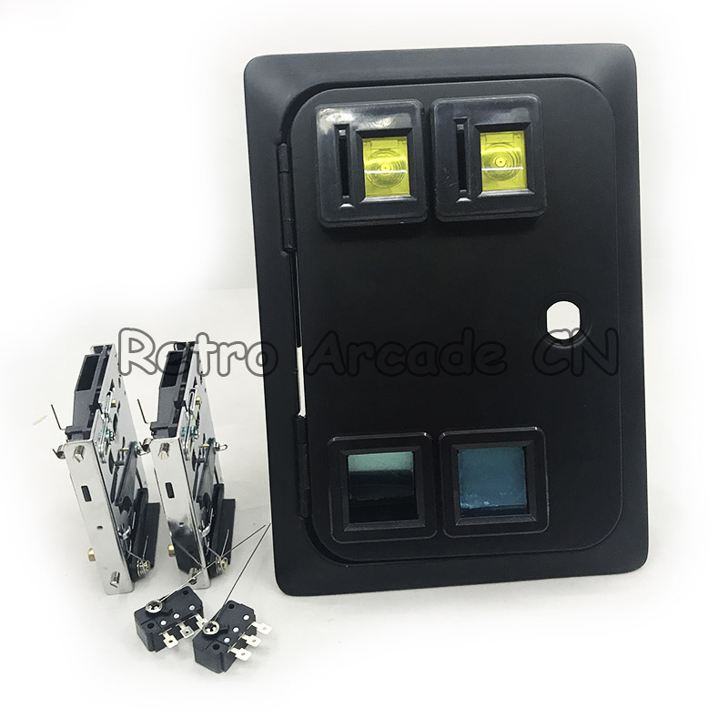 Dual american style coin door with microswitch for arcade cabinet/casino machine/slot game cabinet Coin operator machine