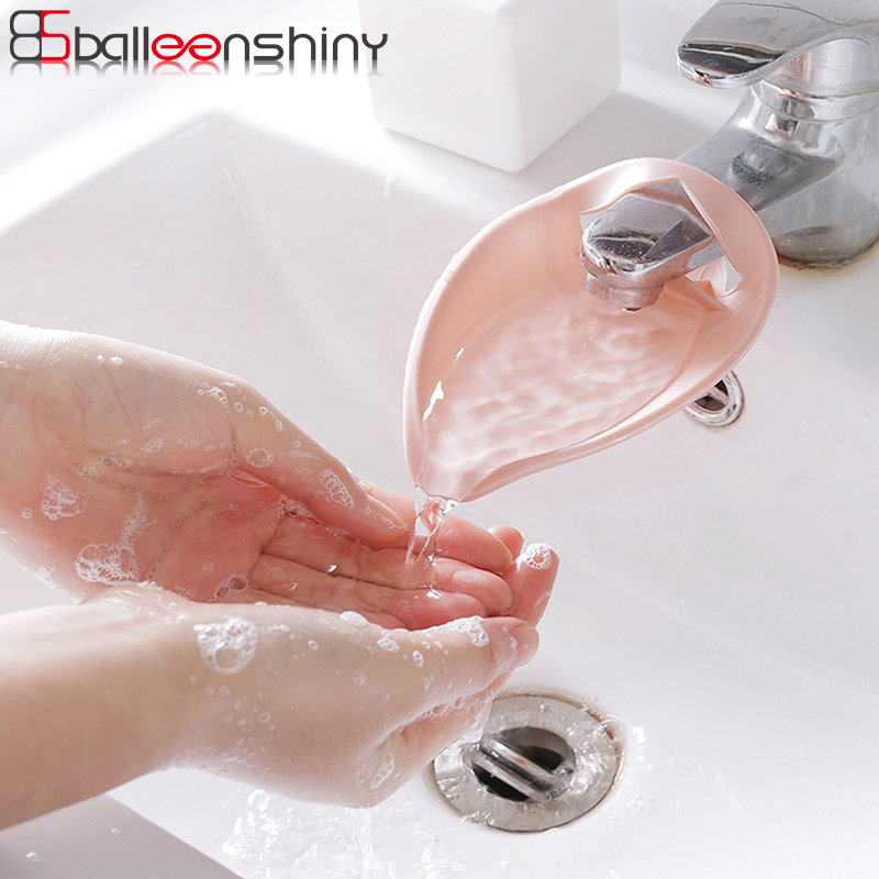 BalleenShiny PP Sink Faucet Tap Extender Nordic Style Bathroom Kitchen For Kids Guiding Washing Hands Sink Handle Extension