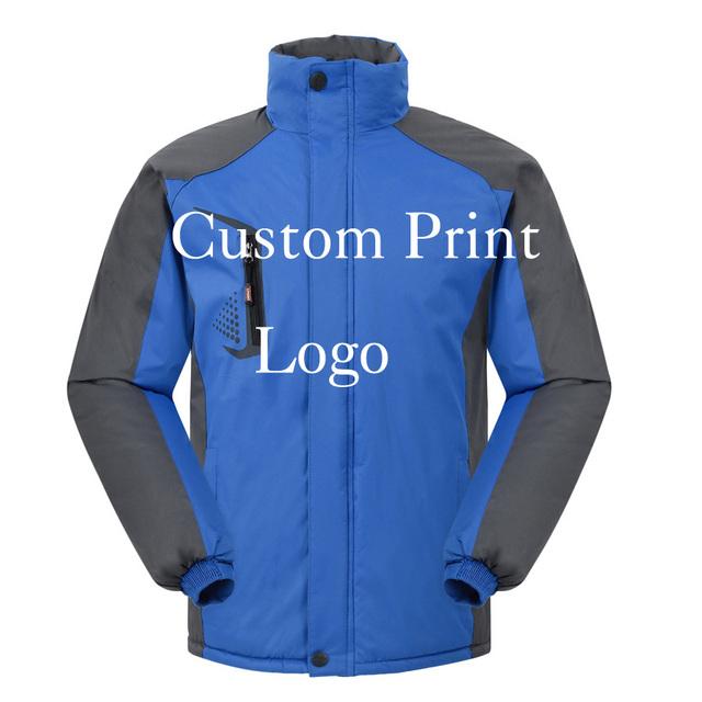 Custom Made Logotipo da Cópia de Trabalho roupas Jaquetas À Prova de Vento à prova d' água Personalizado Casaco de impressão da tela de seda Bordado Projeto Do Cliente
