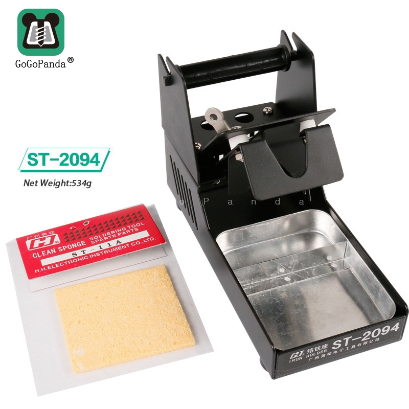 Free Shipping High Quaility Soldering Iron Support Stand Station Metal Base With 1 Sponge ST-2094