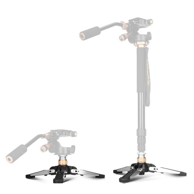 "Universal Video Monopod Stand Base Monopod Tripod Manbily Mini Three Feet Support for DSLR  Monopod with 3/8"" Screw"