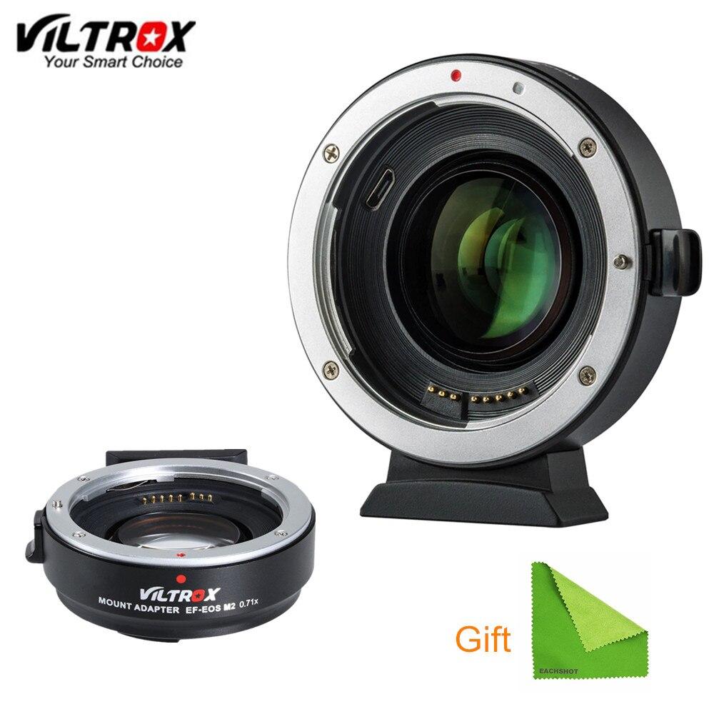 Viltrox EF M2 réducteur Focal Booster adaptateur Auto-focus 0.71x pour Canon EF monture objectif à EOSM caméra M6 M3 M5 M10 M100 M50