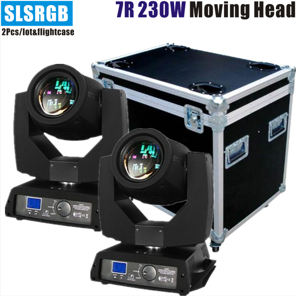 2pcs/lot&flightcase Professional Sharpy 7r Beam 230 Moving Head for beam 230 7R moving head for dj lights 230w sharpy 7r beam