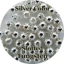 Zilver Kleur, 100 Tungsten Beads, Sleuven, Vliegbindset, Vissen