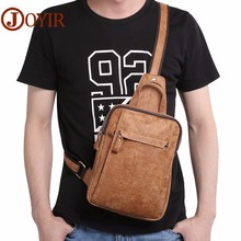 JOYIR Genuine Leather Chest Bag Messenger Crossbody Bags for Men Shoulder Sling Summer Short Trip Leisure For Man