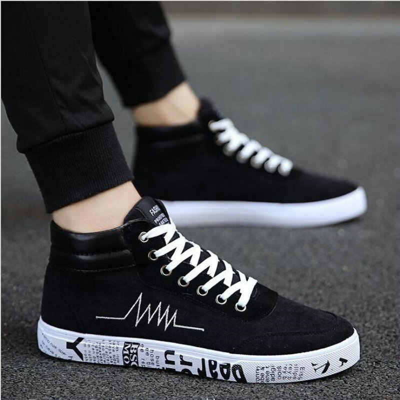 walking shoes canvas shoes high