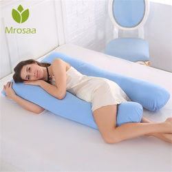 130x70cm Sleeping Support Pillow For Pregnant Women Body 100% Cotton Pillow U Shape Maternity Pillows Pregnancy Side Sleepers