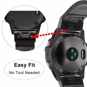 Image 4 - クイック簡単フィット本革時計バンドガーミンフェニックス 5X/5X プラス/5 s/5/3 /3HR/フォアランナー 935/アプローチ S60 時計バンドストラップ