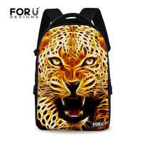 Unique 3D Animal Cool Tiger Printing Backpack 17 Inch Boys Laptop Backpack Teenager School Backpack Zoo