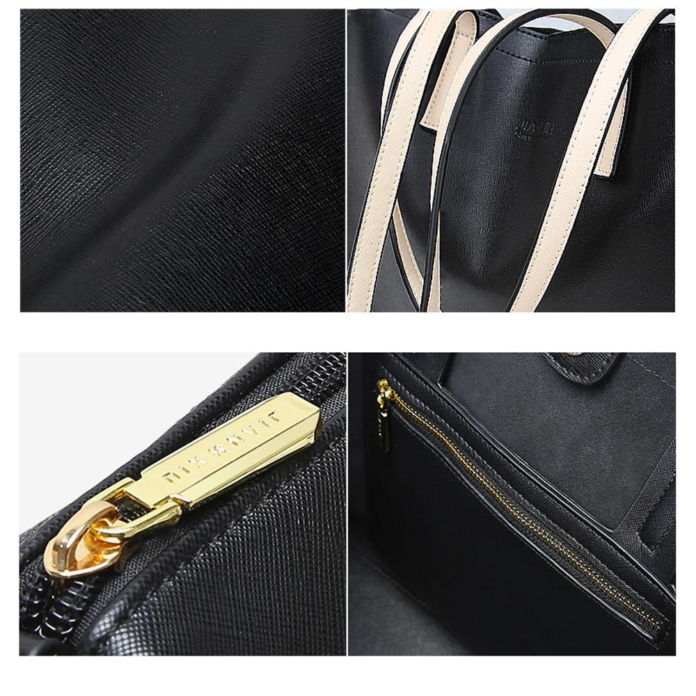 À Haute Qualité Texture 2017 Main En Beige Sac Ol tout Jianxiu Banlieue black De Fourre Sacs Épaule Designer Croix Marque Split Cuir Grand Luxe Femmes Z7cxA0q4w