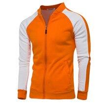 Sweatshirt Men's Slim Sweatshirt Men's Baseball Collar High Quality Men's Fashion Contrast Raglan Sleeve Design Casual Jacket недорого