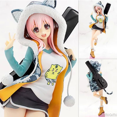 Classic Anime 20cm Super Sonico Tora Parka Sexy Anime Action Figures PVC brinquedos Collection Figures toys Men christmas gift hot sale 26cm anime shanks one piece action figures anime pvc brinquedos collection figures toys with retail box free shipping