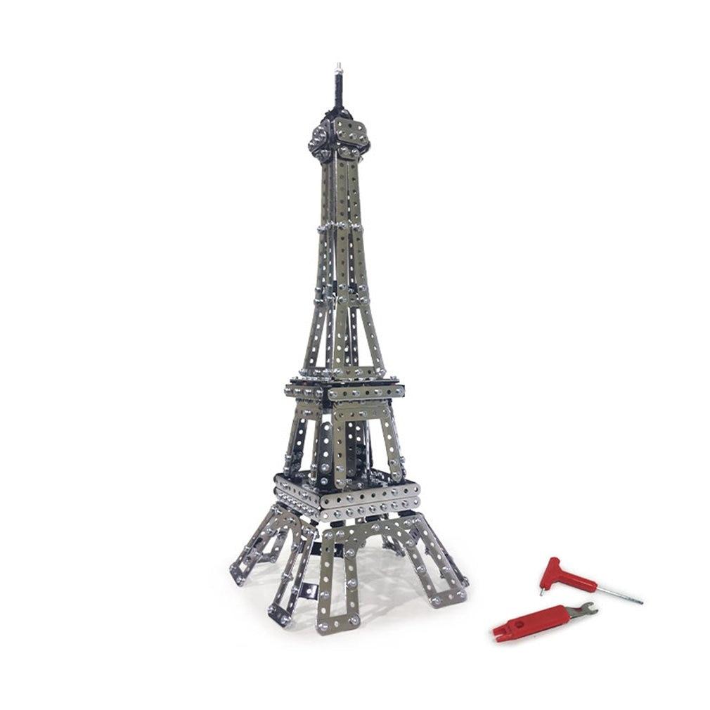 791Pcs Paris Tower Model Building Blocks Brick Set Stainless Steel 3D Metal Puzzle Model Building Blocks Toys For Children