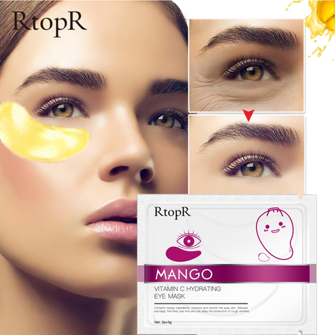 RtopR 30 Pairs Green Algae Collagen Eye Mask for Face Anti Wrinkle Gel Sleep Gold Mask Eye Patches Under The Eye Bags TSLM2 Lahore