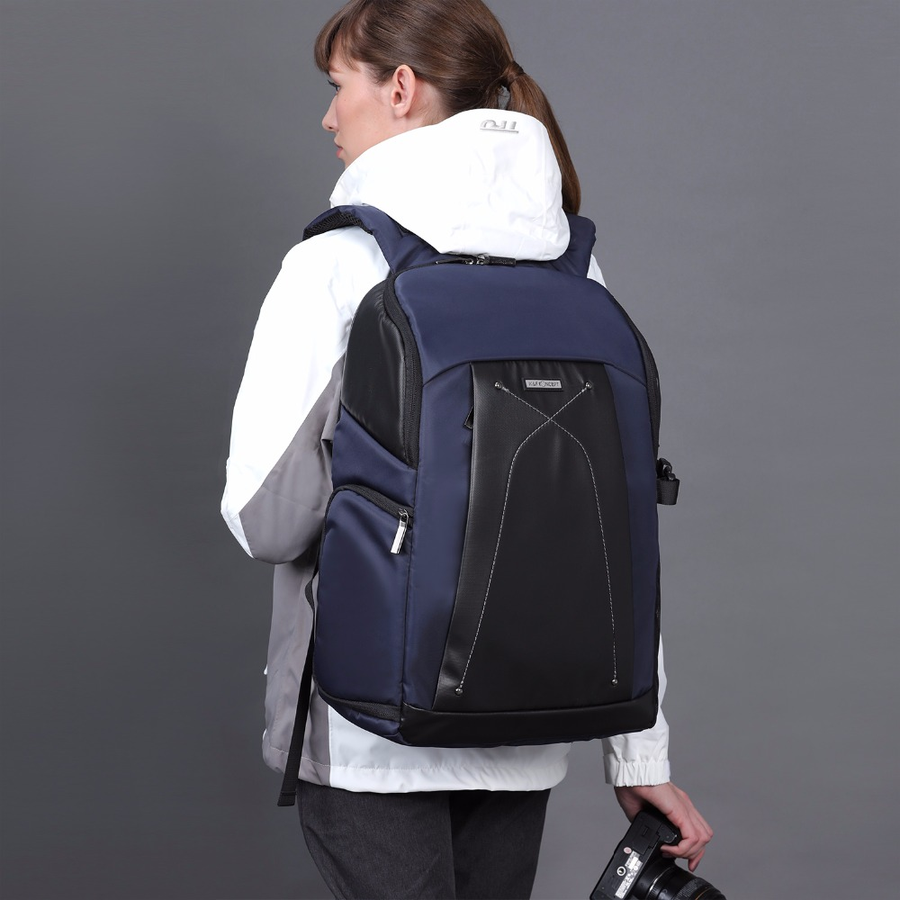K&F CONCEPT NEW Multi-functional Waterproof Camera Backpack hold 1 Camera and Multiplel lens