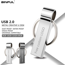 Metal Usb Flash Drive 32gb Pen Drive Usb 2.0 Pendrive 4gb 8gb 16gb 64gb 128gb Flash Memory Stick Key Free Print LOGO U Disk gift цена 2017