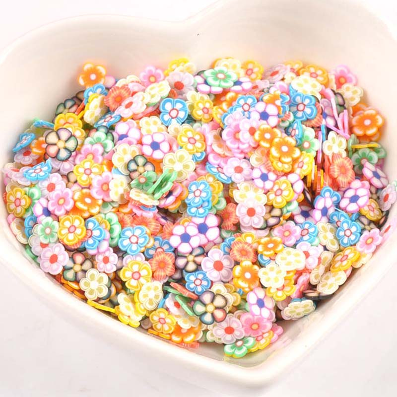 1000pcs Decor Mix Flower Polymer Clay Toy Diy Slime Accessories Decoration Jelly Mud Hand Gum For Kids Nails Art Tips Cp2216 Customers First Apparel Sewing & Fabric