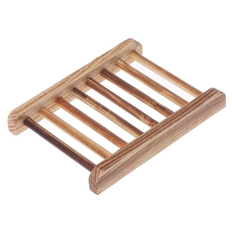 Wooden Soap Holder Handmade Bathroom Anti-Skid Soap Dish Sink Drain Holder Sundries Rack Bathroom Accessories