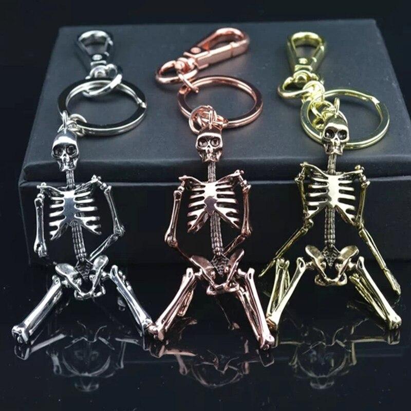 Бүктелген Skeleton Pendant Key Chain For Men Ерлер - Сәндік зергерлік бұйымдар - фото 6