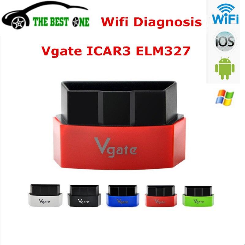 Prix pour 100% D'origine Vgate iCar3 Wifi Elm327 Lecteur de Code Pour OBD2 protocole Voitures ELM 327 iCar 3 WIFI OBDII Scanner Pour IOS/Android/PC